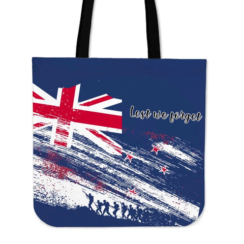 Lest We Forget Flag Newzealand Tote Bag K47 - 1st New Zealand