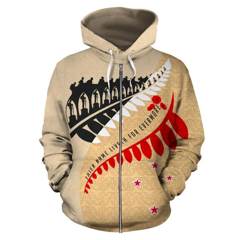 Aotearoa Zip Up Hoodie - Fiveth For Evermore LG K6 - 1st New Zealand