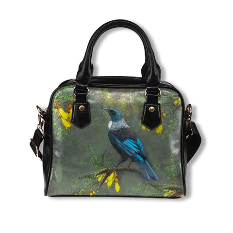 Kowhai Tui Bird New Zealand Shoulder Handbag K5 - 1st New Zealand