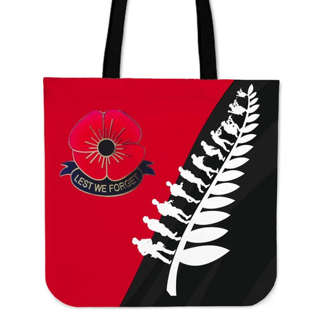 New Zealand Anzac Day Lest We Forget Tote Bag K5 - 1st New Zealand