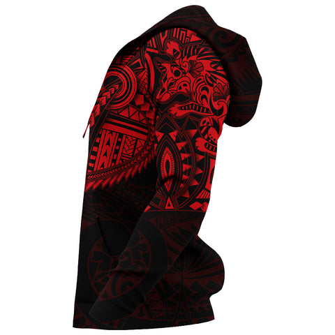 New Zealand Hoodie, Maori Tattoo Wolf Dragon Pullover Hoodie - Red K4 - 1st New Zealand