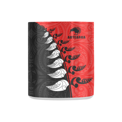 Aotearoa Silver Fern Koru Style - New Zealand Insulated Mug K4 - 1st New Zealand