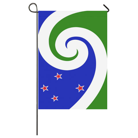 New Zealand Manawa Garden Flag (Blue & Green) K4 - 1st New Zealand