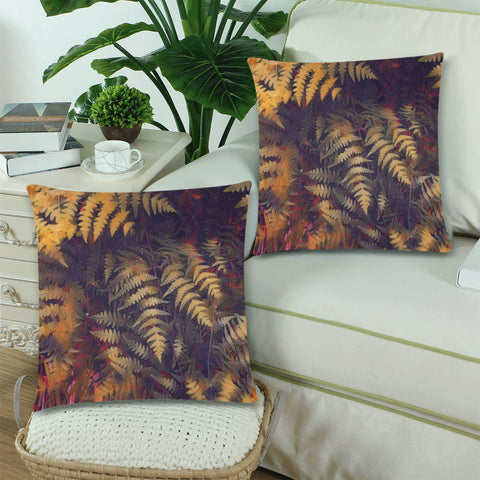 New Zealand Fern Leaves Pattern Zippered Pillow Cases 17 - 1st New Zealand