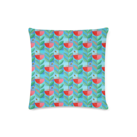 New Zealand Pohutukawa Pattern Zippered Pillow Cases