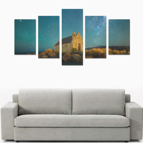 New Zealand Landscape Canvas Print - Church of the Good Shepherd 2 K4 - 1st New Zealand
