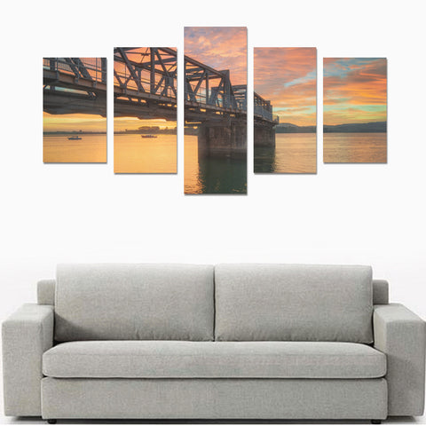 Image of New Zealand Landscape Canvas Print - Sunrise over Tauranga Harbou K2 - 1st New Zealand