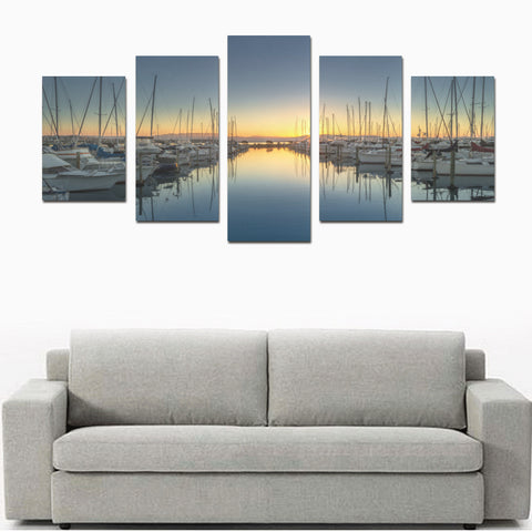 New Zealand Landscape Canvas Print - Sunset in Tauraga K7 - 1st New Zealand