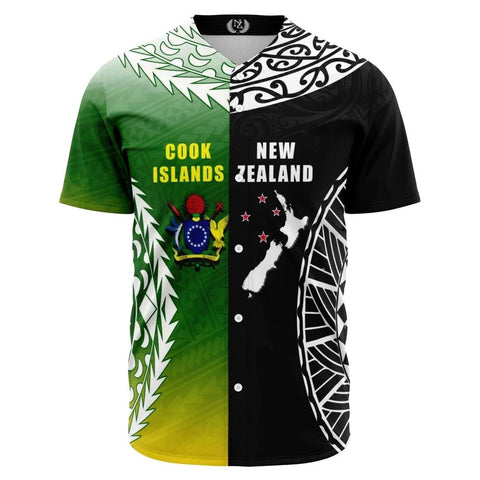 Image of New Zealand Cook Islands Baseball Jersey