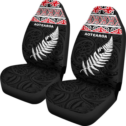 Aotearoa Koru Silver Fern Car Seat Covers K7 - 1st New Zealand