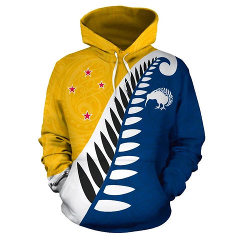 Koru Fern New Zealand Hoodie Yellow K9