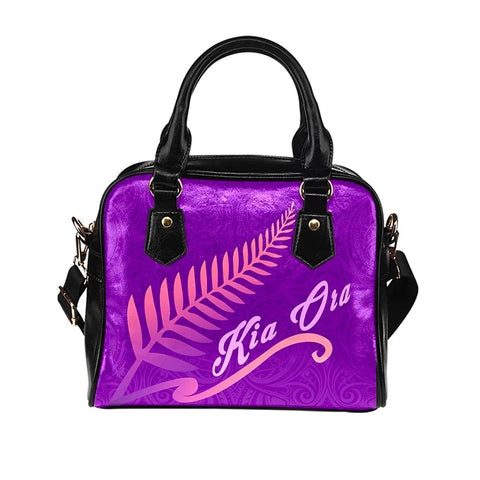 Kia Ora Silver Fern Shoulder Handbag K9 - 1st New Zealand