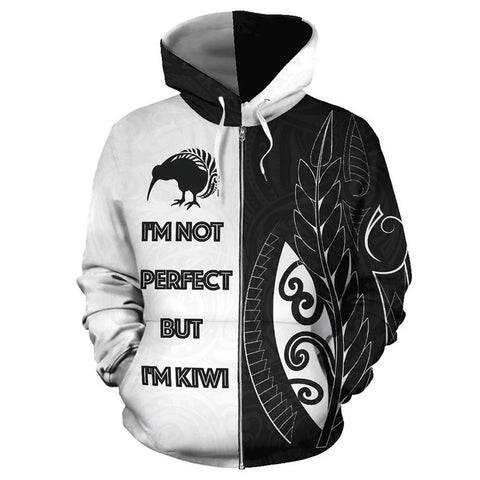 Im Not Perfect But Im Kiwi Zip Hoodie K4