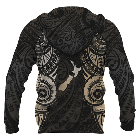 Image of Maori Tattoo Zip Hoodie, New Zealand Aotearoa Pullover Hoodie K4 - 1st New Zealand
