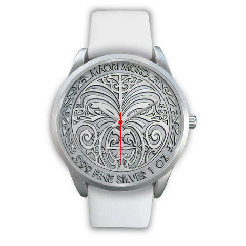 Image of New Zealand Maori Moko Coin Silver Watch K4 - 1st New Zealand