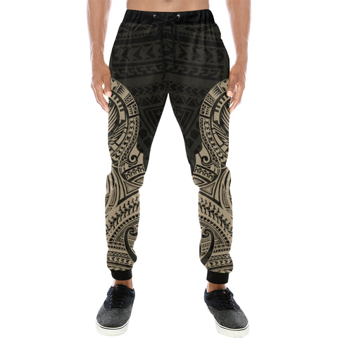 Maori Tattoo New Zealand Sweatpants Version 2.0 with Golden color - Front - For Men