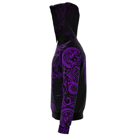 Virgo Zodiac Zip Hoodie Aotearoa Maori Tattoo | Love New Zealand side 2