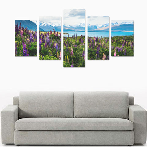 New Zealand Lupins at Lake Tekapo Canvas Print K4 - 1st New Zealand