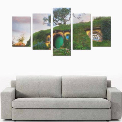 Image of New Zealand Hobbiton Canvas Print K4 - 1st New Zealand