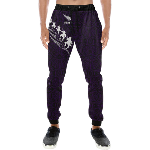 Rugby Haka Fern - Dark Purple Sweatpants K24
