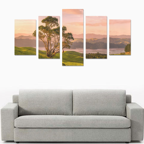 Image of New Zealand Landscape Canvas Print - Farm Sunset K2 - 1st New Zealand
