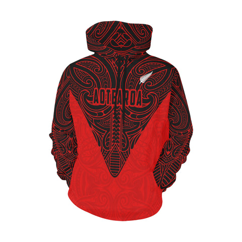 Image of New Zealand Maori Tattoo All Over Print Hoodie Th5 - 1st New Zealand