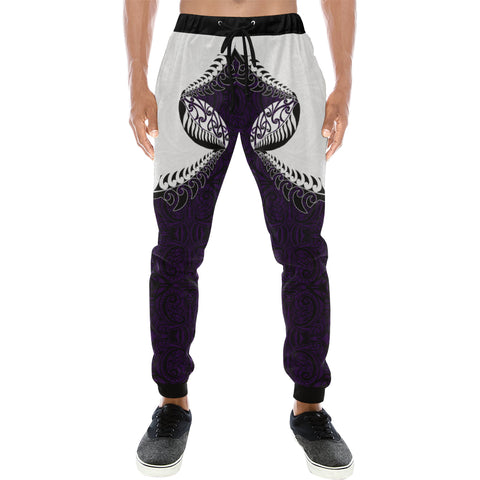 Rugby Haka Style - Dark Purple Sweatpants K24