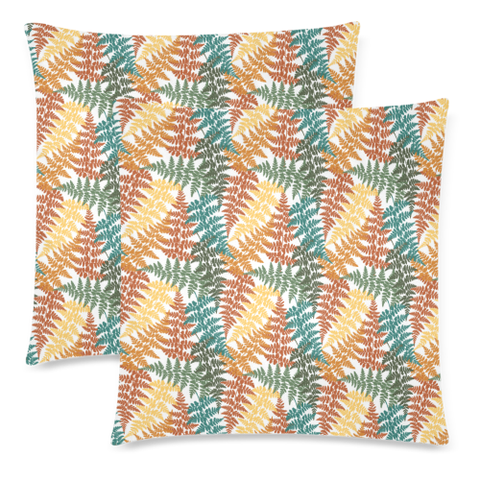 New Zealand Fern Leaves Pattern Zippered Pillow Cases 15