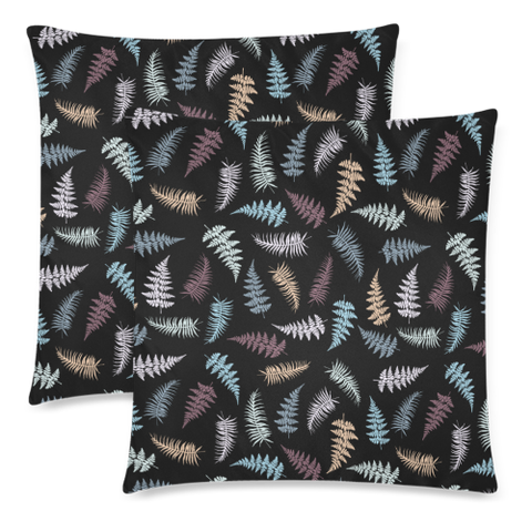 New Zealand Fern Leaves Pattern Zippered Pillow Cases 12