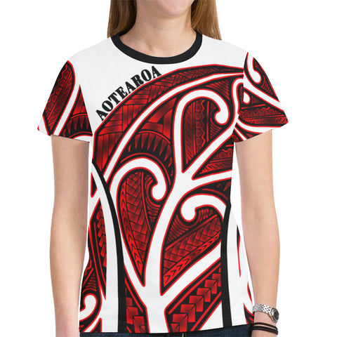 Image of Aotearoa T-shirts Silver Fern Maori Rugby TH5 - 1st New Zealand