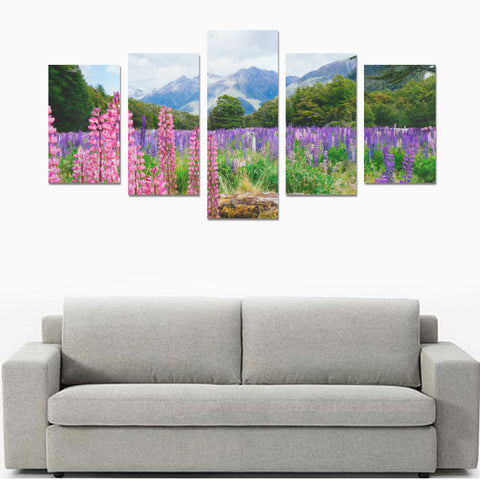 Image of Lupin flower in Fiordland National Park Canvas Print K4 - 1st New Zealand