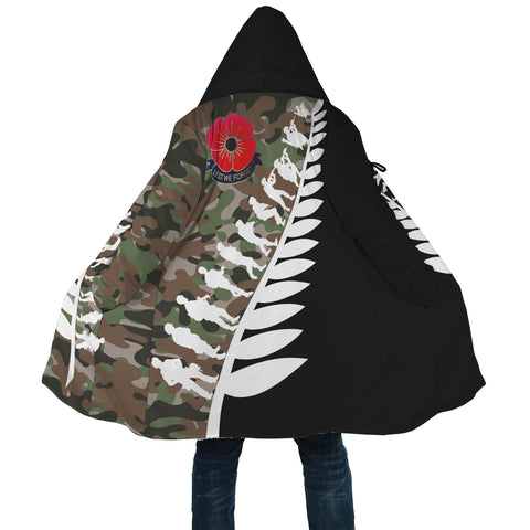 New Zealand Lest We Forget Anzac Fern Hooded Camo Cloak K5 - 1st New Zealand