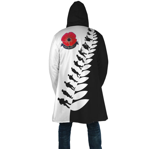 New Zealand Lest We Forget Anzac Fern Hooded Cloak K5 - 1st New Zealand
