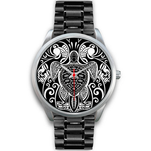 Image of Maori Turtle Tattoo Silver Watch TH5 - 1st New Zealand