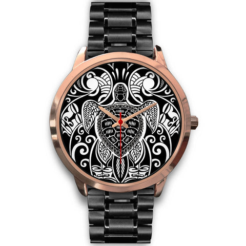 Image of Maori Turtle Tattoo Rose Gold Watch TH5 - 1st New Zealand