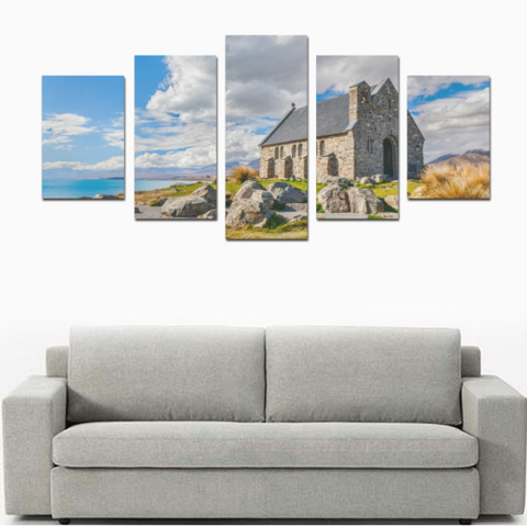 New Zealand Landscape Canvas Print - Church of the Good Shepherd K4 - 1st New Zealand