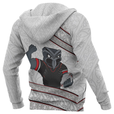 Image of New Zealand Warriors Hoodie Champion 2019 back white