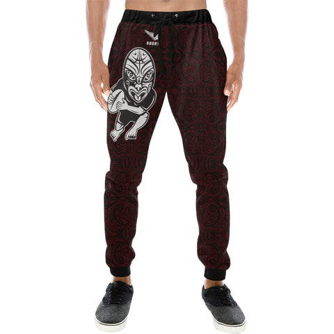 Rugby Haka New Style - Dark Red Sweatpants K24 - 1st New Zealand