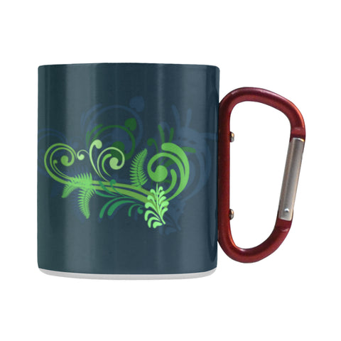 New Zealand Silver Fern - New Zealand Green Insulated Mug L1 - 1st New Zealand