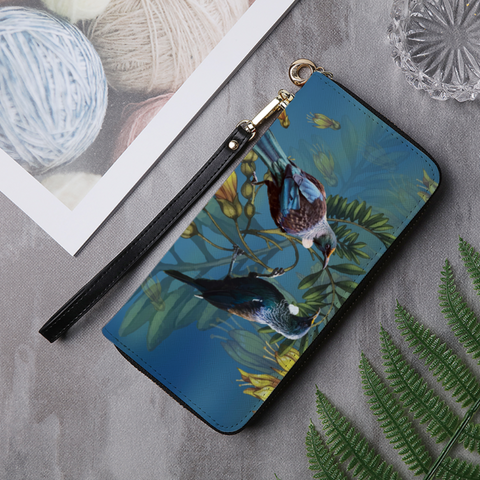 New Zealand Tui And Kowhai Wallet - 1st New Zealand