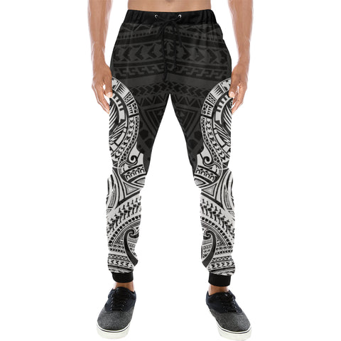 Maori Tattoo New Zealand Sweatpants with White color - Front - For Men