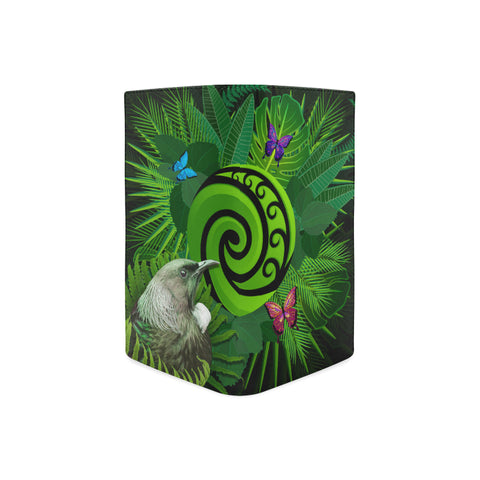 New Zealand Women Wallet Koru Fern Mix Tui Bird - Tropical Floral K4 - 1st New Zealand