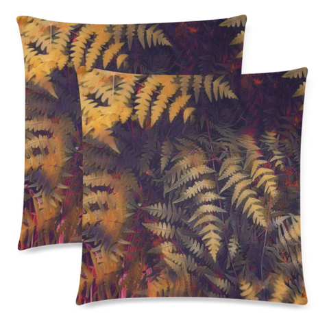 New Zealand Fern Leaves Pattern Zippered Pillow Cases 17