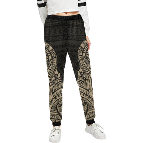 Maori Tattoo New Zealand Sweatpants Version 2.0 with Golden color - Front - For Women