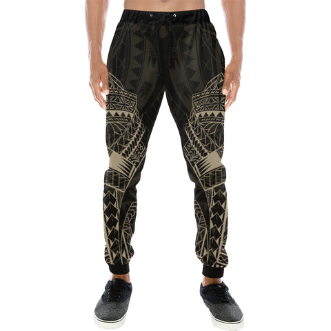 Maori Tattoo New Zealand Sweatpants with Golden color - Front - For Men