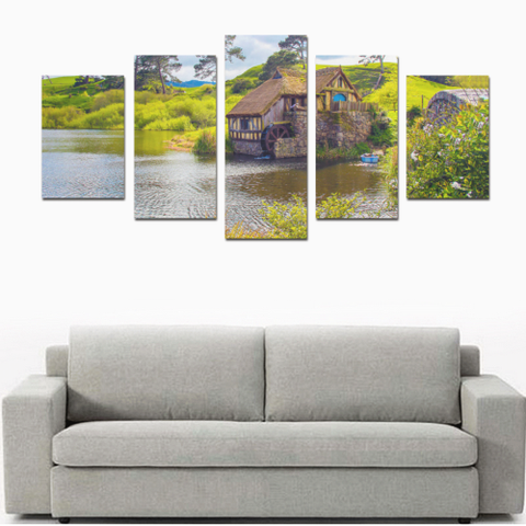 Image of New Zealand Watermill in Hobbiton Canvas Print K4 - 1st New Zealand