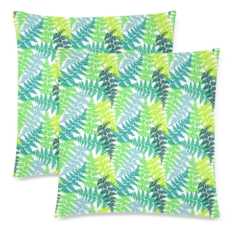 New Zealand Fern Leaves Pattern Zippered Pillow Cases 16 - 1st New Zealand