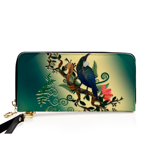 New Zealand Tui with Fern Wallet - 1st New Zealand