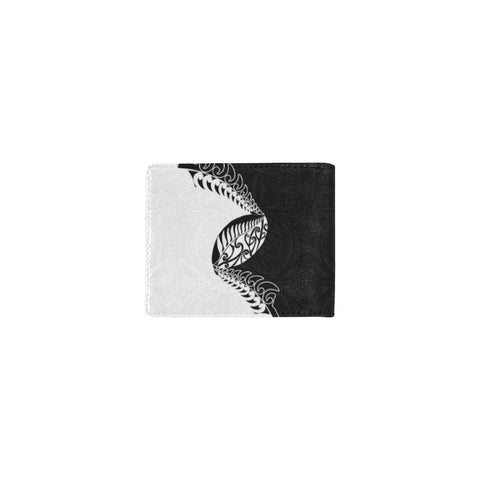 Image of Aotearoa Rugby Fern Mini Bifold Wallet Black White right