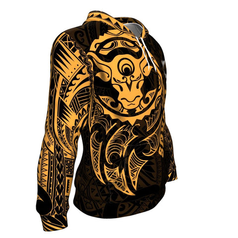 Image of Taurus Zodiac Hoodie Maori Tattoo TH5
